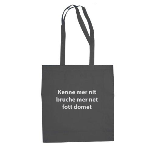 Kenne mer nit - Stofftasche / Beutel Grau
