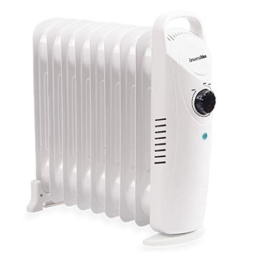 UNIVERSAL BLUE PAE Calentador RADIADOR Aceite Mini 1000W Blanco URAM1000-18