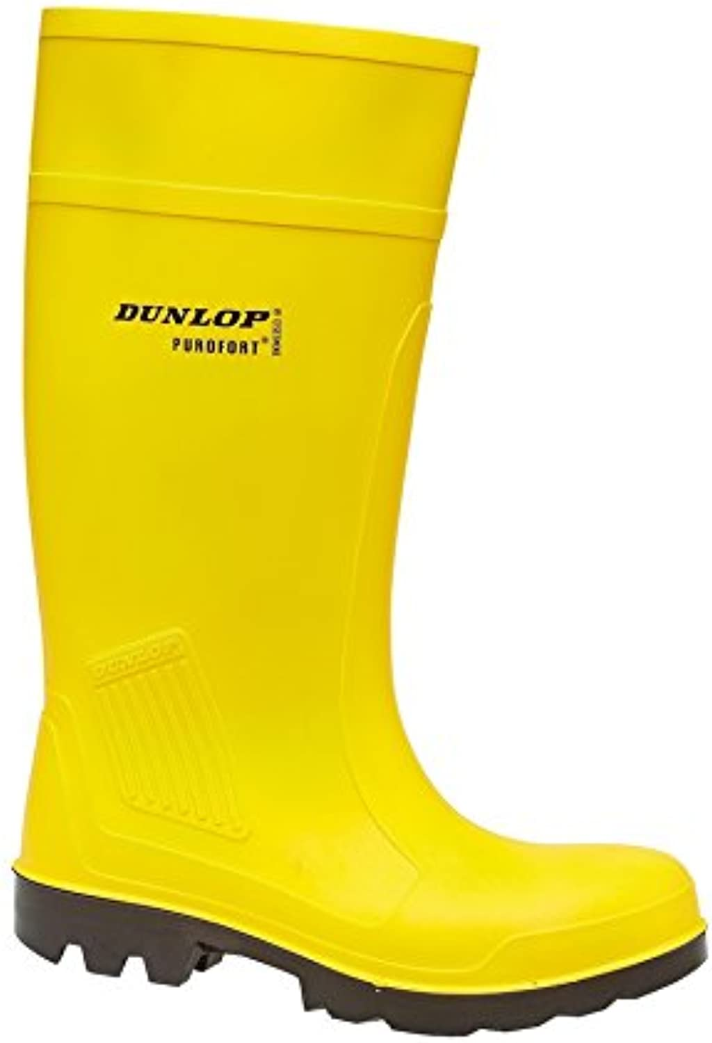 Dunlop Slip-On Self-Lined Wellingtons - Yellow - Size 39 40 41 42 43 44