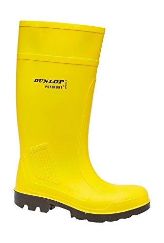 Dunlop c462241Purofort Lebensmittelindustrie Wellington-Fuß Wasserdicht Arbeit Stiefel, Gelb - gelb - Größe: 45 - Arbeit Stiefel Toe Wasserdicht Steel