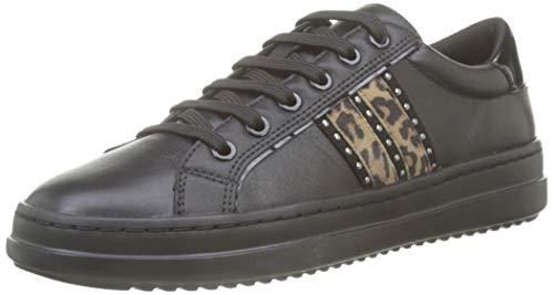 Geox Damen D PONTOISE D Sneaker, Schwarz (Black C9999), 42 EU