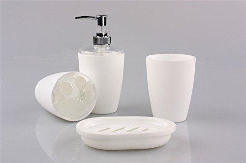 MyTop 4 Piece Set di accessori da bagno Set da bagno portasapone ...