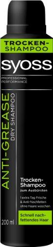Syoss Leave-in Trocken-Shampoo Anti-Grease, 2er Pack (2 x 200 ml)