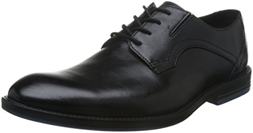 Clarks Prangley Walk, Derby Homme, Noir (Black Leather), 43 EU