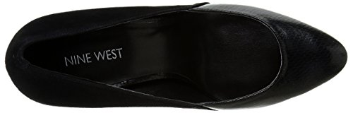 Pompa Nine West Devinity Suede Wedge Black/black