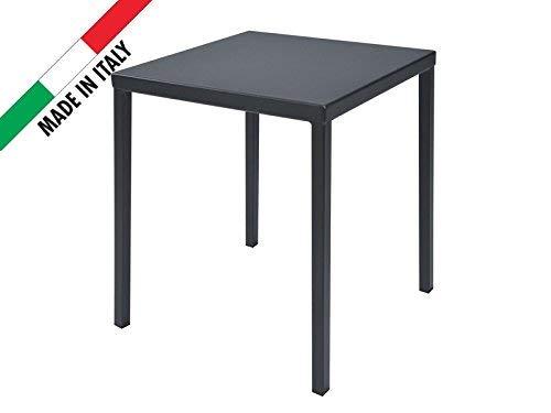 RD ITALIA Table 70 x 70 en métal Couleur Anthracite pour ...