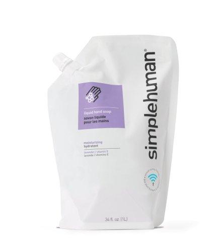 simplehuman Moisturising Liquid Hand Soap Refill Pouch, 1 L - Lavender and Vitamin E