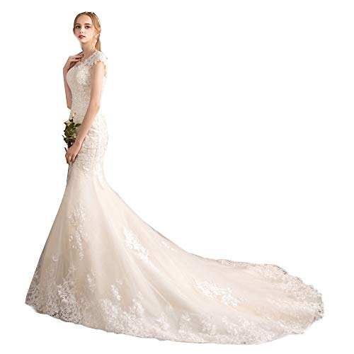 Yocobo Elegantes Brautkleid Brautkleid Hochzeitskleid (weiß) Abendkleid XXXL