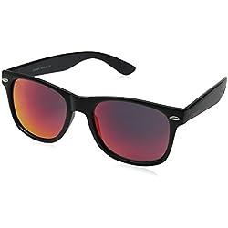 ZeroUV Flat Matte Reflective Revo Color Lens Rimmed Style Sunglasses