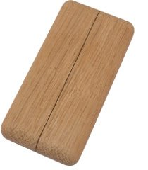 Heizrohr-Rosetten Typ Casa 100 | Massivholz | Eiche | ROH | 100 x 50 mm