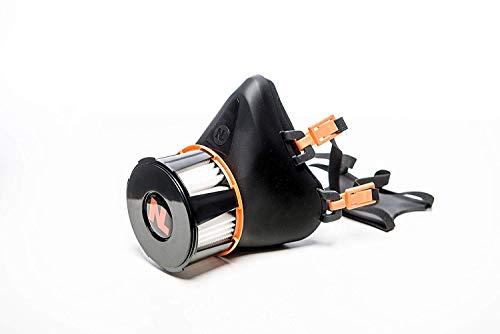 Nanologix Wiederverwendbarer Halbmasken-Staubmaske mit P2-Filter (Nanofaser filtert bis zu 99,9% der Schadstoffe)