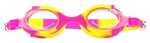swimtastic Lunettes de natation pour enfant pour garçons et filles–coloré et amusant Tie Dye., rose/jaune