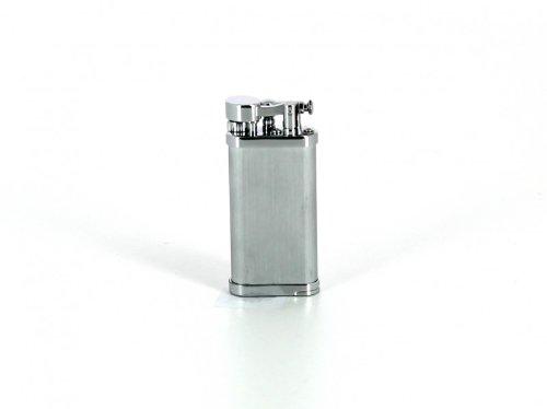 IM Corona Feuerzeug für Pfeifenraucher Old Boy Chrom satiniert mit Pfeifenstopfer (Pfeifenraucher)