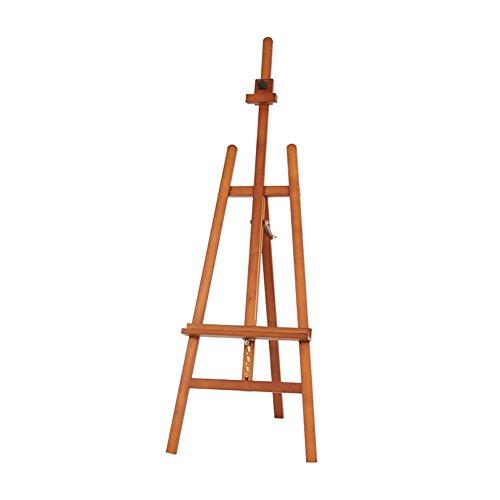 LXLA- Buche Künstler Malerei Staffelei Werbung Display Stand Stativ Studio Halter für Outdoor Skizzieren Max Höhe 193 cm (Farbe : Braun)