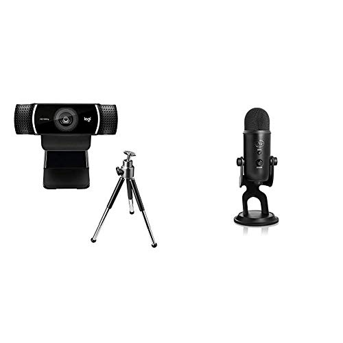 Blue Yeti USB-Mikrofon + Logitech Brio Webcam mit 4K-Auflösung Ultimative Pro-Streaming-Ausrustung (Streaming Edition HD-Webcam mit 1080p - 12-monatige Premium-Lizenz XSplit enthalten)