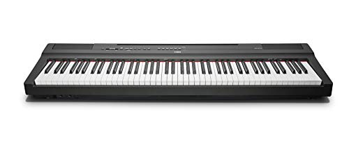 """Yamaha P-125B Digital Piano, schwarz - - Kompaktes elektronisches Klavier in schlichtem Design für perfekte Spielbarkeit - Kompatibel mit kostenloser App \""""Smart Pianist\"""""""