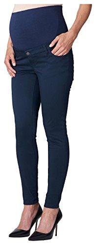 ESPRIT Maternity Damen Umstandshose Pants OTB Slim Blau (Navy 400) 34 (Herstellergröße: 34/32) Maternity Bootcut-hose