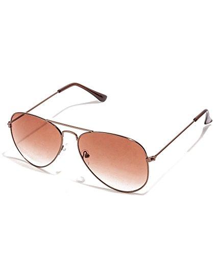 Allen Cate Brown Dual Shade Aviator Sunglasses