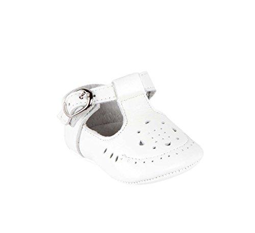 Babies en cuir avec une fermeture à boucle - bébé fille Blanc