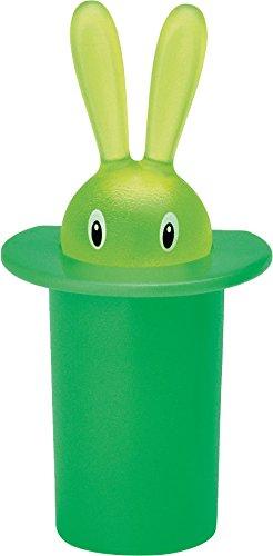 Alessi ASG16GRM Magic Bunny, Magnet aus thermoplastischem grünen Harz, 10Stück - Alessi Magic Bunny