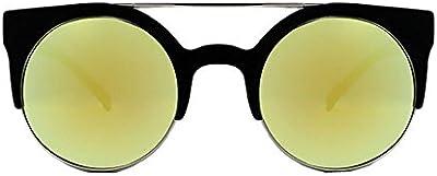 Quay Gafas de sol livnow ojo de gato redondo geométrico marco Aviator Cutout