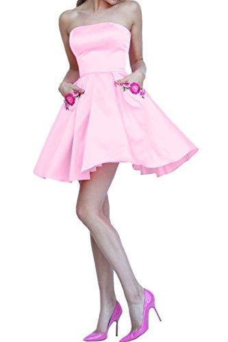 Promgirl House - Robe - Trapèze - Femme Rose