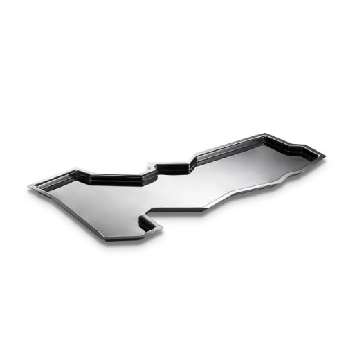 Alessi Officina Clouds Root 54cm Tablett, silber - Root-tray