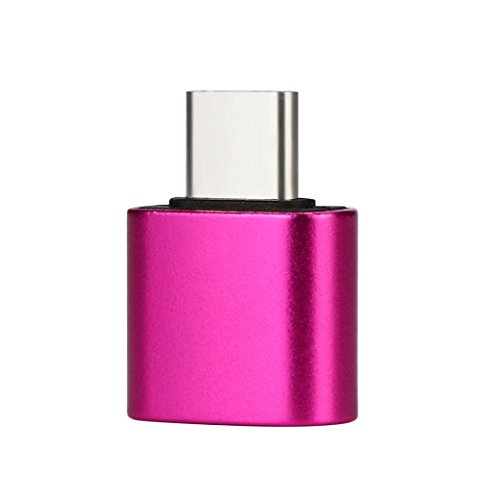TYPE-C OTG Adapter HKFV USB-C Type-C To USB 2.0 OTG Adapter umfassen: Für Samsung Galaxy S9, Für Samsung Galaxy Note 8, Für Sony Xperia XZ (Hot Pink) (Zte Adapter)
