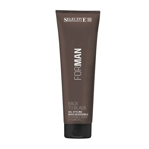 SELECTIVE PROFESSIONAL FOR MAN BACK TO BLACK REVERSIBLE BLACK STYLING GEL 150 ML