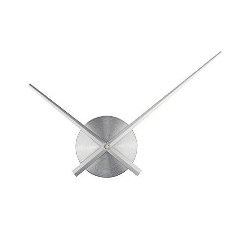 Timelike, 3D-Uhrzeiger, Große Wanduhrzeiger, nadelförmig, Für Wanduhren zum selber bauen, Dekoration, Quarz-Uhr-Mechanismus, Zubehör, Silber