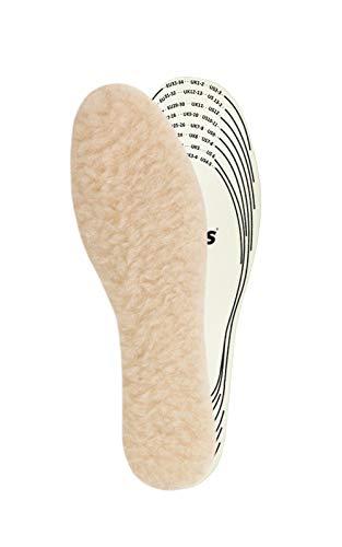 Kaps Kinder Einlegesohlen Wolle – Schuheinlagen aus 100% natürlichen Schaffell für warme Schuhe – Schuhsohlen & Thermo Einlegesohlen in allen Größen – Schaffellsohlen hergestellt in Europa