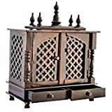 Jodhpur Handicrafts Home Wooden Pooja Temple With White Light