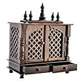 Jodhpur Handicrafts Home Wooden Pooja Temple With White Light