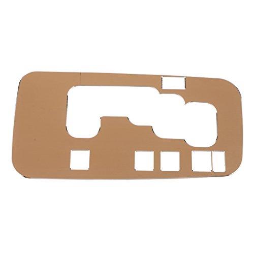 F Fityle Aluminium Schaltknauf Panel Abdeckung Schalthebel Rahmen Abdeckung Für Auto - Gold