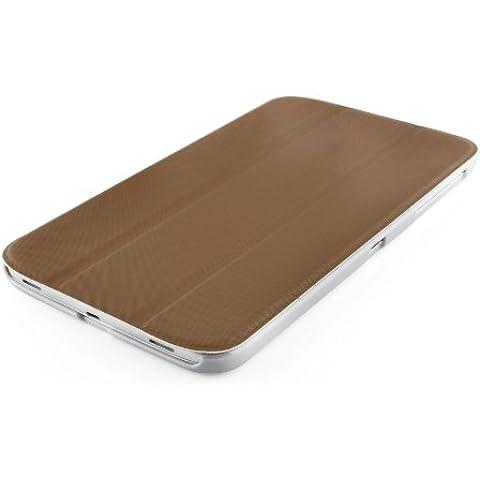 VEO | Funda Para [ Samsung Galaxy TAB 3 8.0 ] Ultra Fina Smart Case Cover Inteligente, MARRÓN