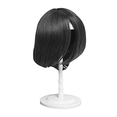 Einstellbar Perücke Hut Kappe Unterstützung stehen, langlebig Perückenhalter, Kunststoffhalterung Pilzrahmen zerlegt Kopf Modell for Perücke Shop Ausbildung (Color : White)