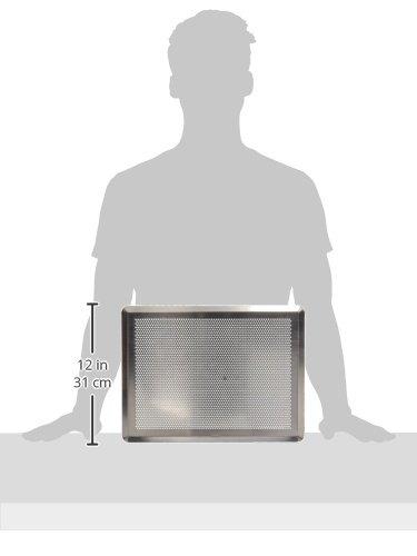comprare on line De Buyer 7367.40, Teglia da Forno Rettangolare Forata, per Pasticceria, da 40 x 30 cm, Alluminio, Colore Naturale Alluminio prezzo