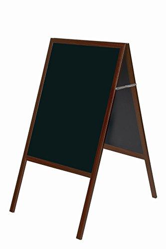 Bi-Office Tableau noir chevalet de trottoir 1200 x 600 mm Mérisier