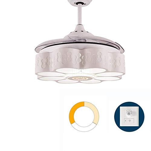 GONGFF La luz Ventilador Techo se Puede invertir Frecuencia