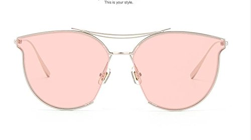 Unisex Sonnenbrille Für sanfte Monster-SonnenbrilleNew Gentle man or Women Monster eyeware V brand X KONG HYO JIN TYPE 2 02(P) sunglasses for Gentle monster sunglasses -sliver frame pink lens