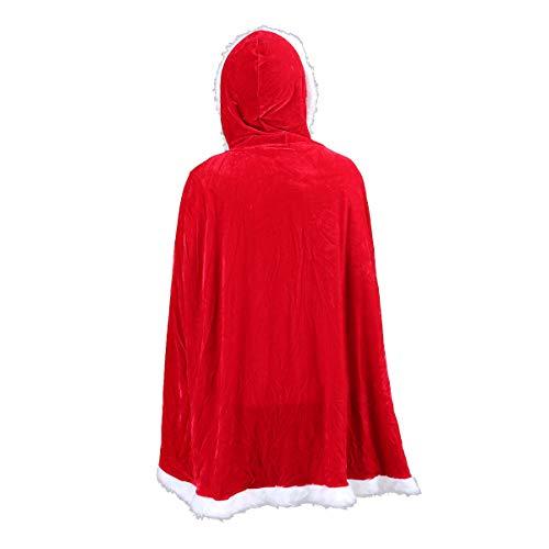 BESTOYARD Weihnachten Cape Weihnachten Umhang Mrs. Santa Claus Kapuzen Robe Mantel Cosplay Kostüm für Kinder Kinder Party