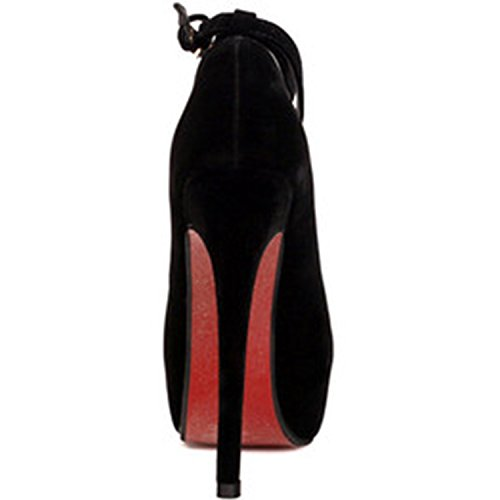 Oasap Damen Fashion Knöchelriemchen Stiletto Pumps Black