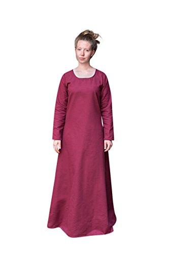 Sottoveste medievale freya accessorio costume cotone bordeaux - xxxl