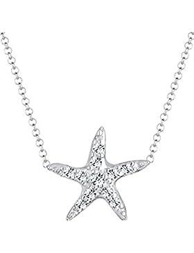 Elli Damen-Kette mit Anhänger Seestern 925 Silber Swarovski Kristall weiß Brillantschliff - 0103652614_40