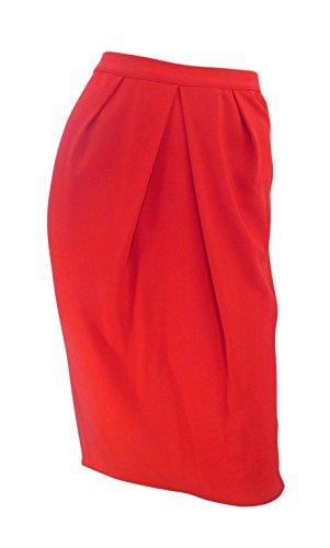 marks-spencer-rouge-crepe-souple-crayon-jupe-avec-plis-a-lavant-rouge-44