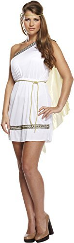 (Ladies Römische Göttin Antike griechische Toga Kostüm Outfit U37158)