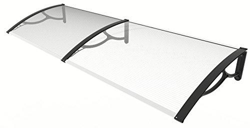 Pensilina in alluminio e policarbonato 80 x 200 cm