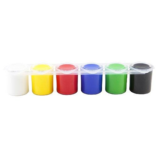 Idena 622036 - Schulmalfarben, 6 Farbtöpfchen a 25 ml