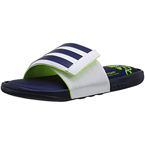 Adidas Performance Adissage Comfort Sandalo, Grigio Metallizzato nero / ferro / nero, 5 M Us