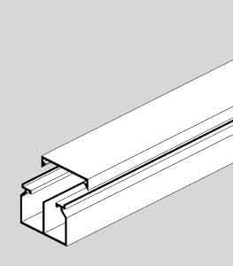 Ggk - Goulotte Electrique PVC 40x60 mm avec cloison de séparation par 24 mètres
